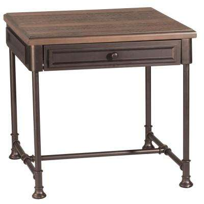 Casselberry Brown End Table with Walnut Top