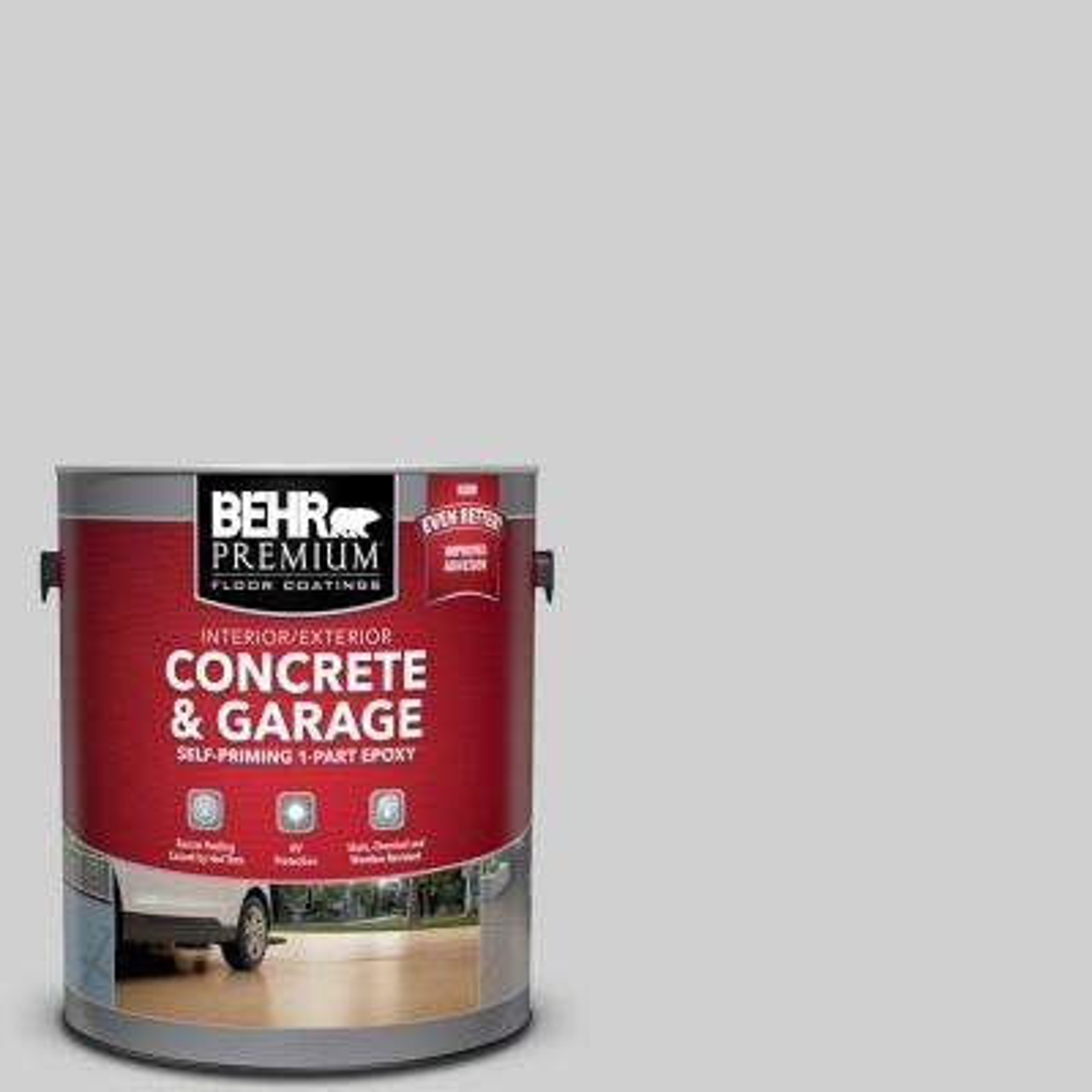 1 gal. #N520-1 White Metal Self-Priming 1-Part Epoxy Satin Interior/Exterior Concrete and Garage Floor Paint