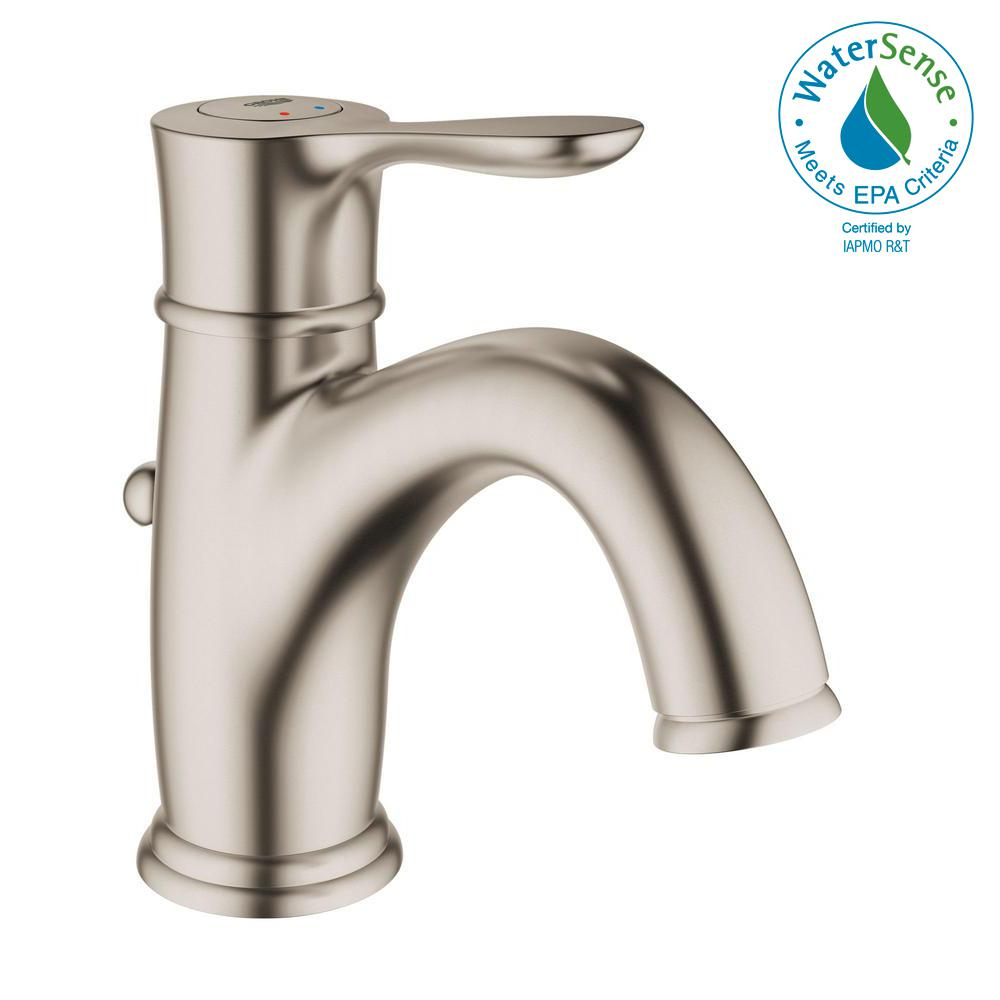 Marvelous GROHE Parkfield Single Hole Single Handle 1.2 GPM Bathroom Faucet In  Brushed Nickel InfinityFinish