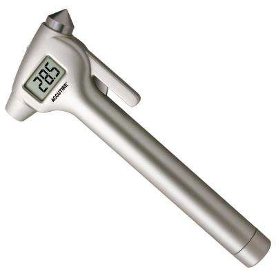 Accutire Digital Tire Pressure Gauge with Emergency Hammer, Seatbelt Blade and White LED Flashlight