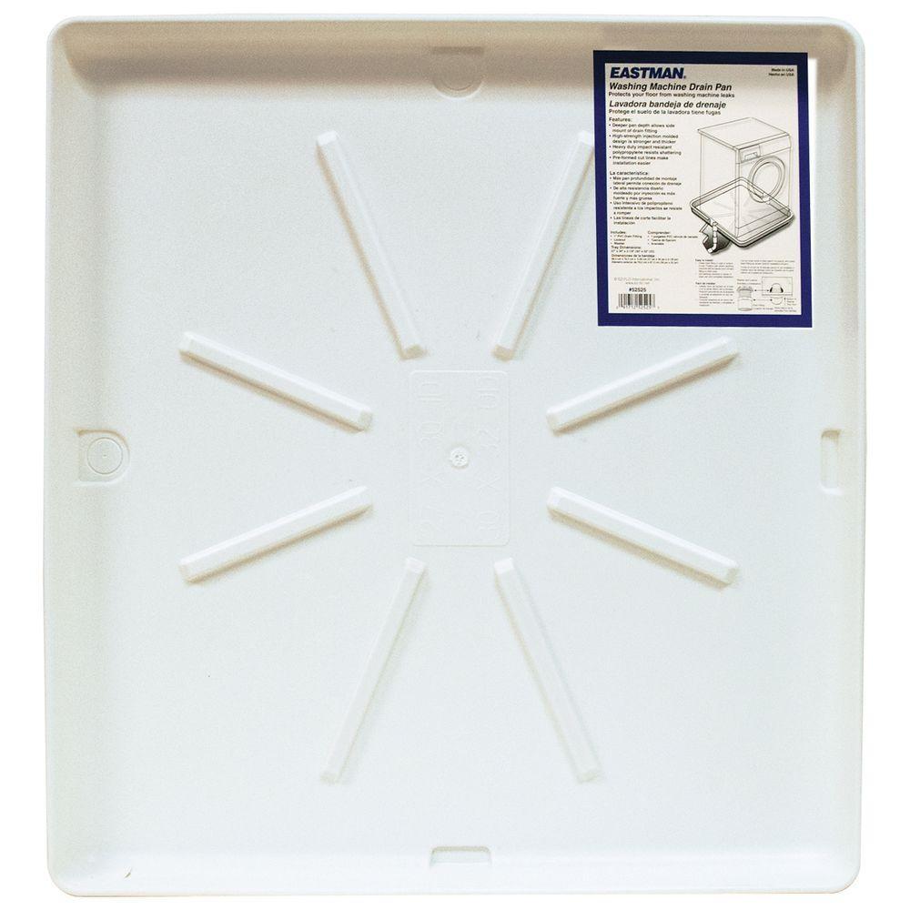 30 in. x 32 in. Washing Machine Pan in White