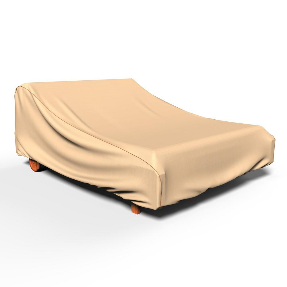 Budge chelsea patio double chaise covers p2a01tn1 the for Chaise lounge covers waterproof