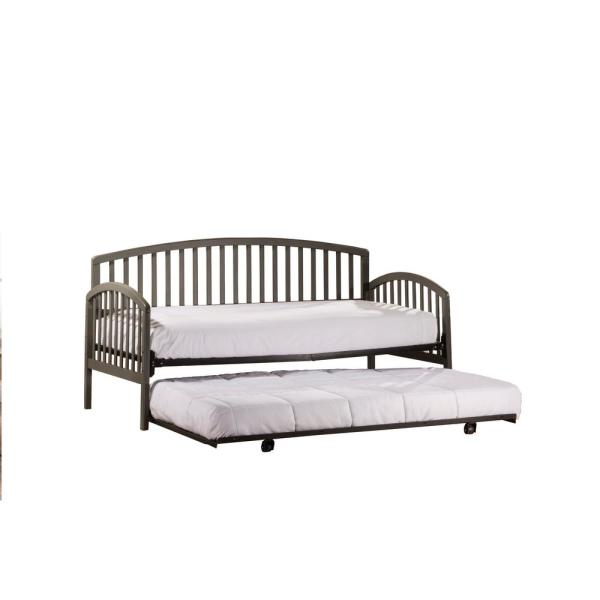Hillsdale Furniture Carolina Stone Daybed with Suspension Deck and Trundle Included