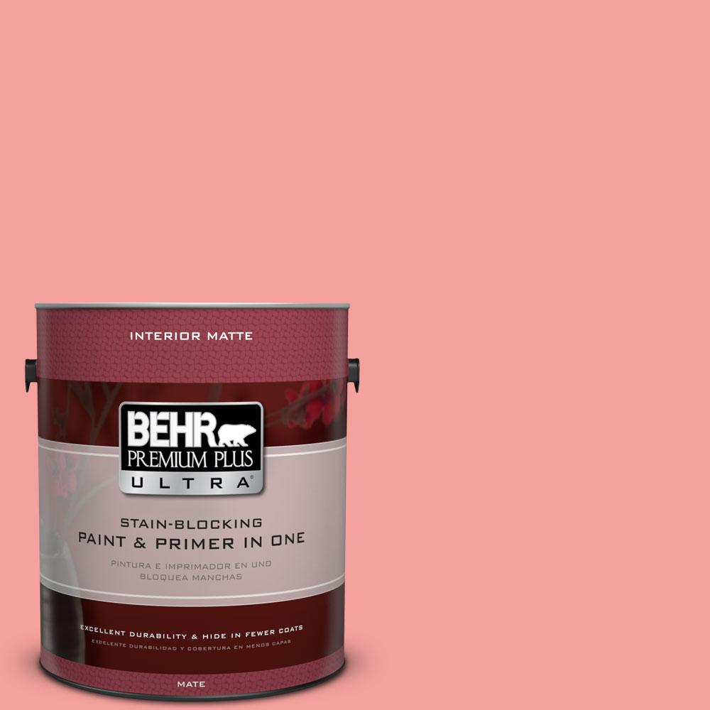 1 gal. #150B-4 Pink Eraser Flat/Matte Interior Paint