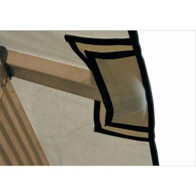 14 ft. x 14 ft. ACACIA Khaki Gazebo Replacement Canopy