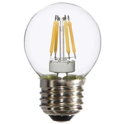 25W Equivalent Warm White G16.5 Dimmable LED Light Bulbs (6-Pack)