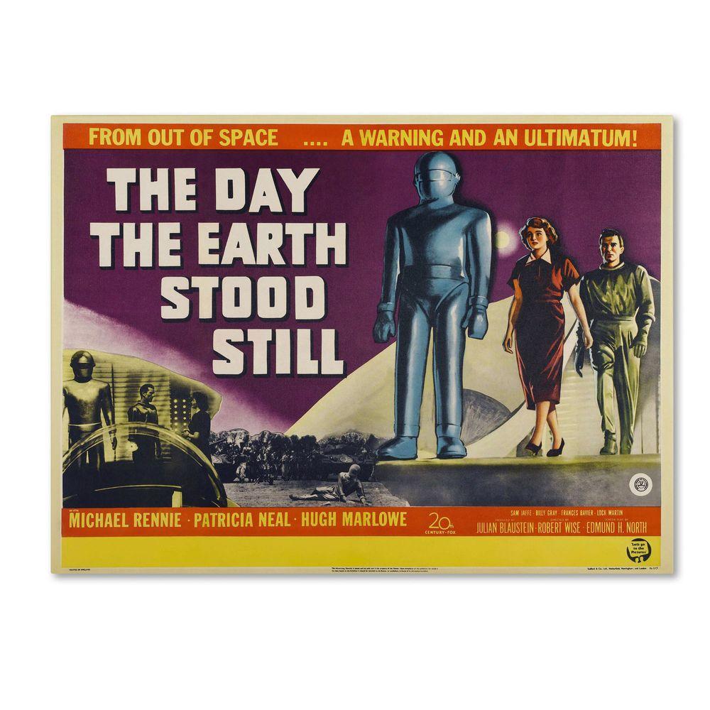 18 in. x 24 in. Day Earth Stood Still Canvas Art