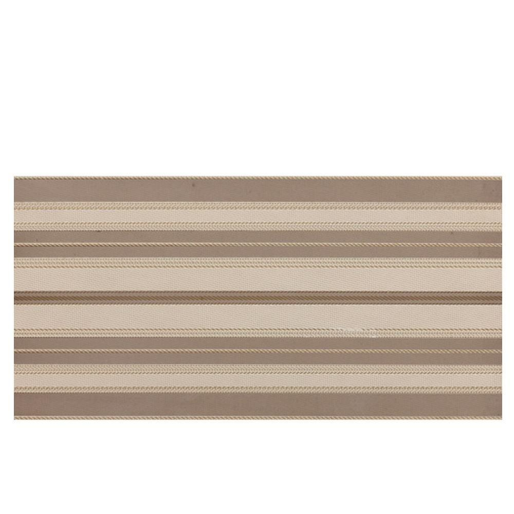 Daltile Identity Cream/Brown Fabric 12 in. x 24 in. Porcelain Decorative Accent Floor and Wall Tile-DISCONTINUED