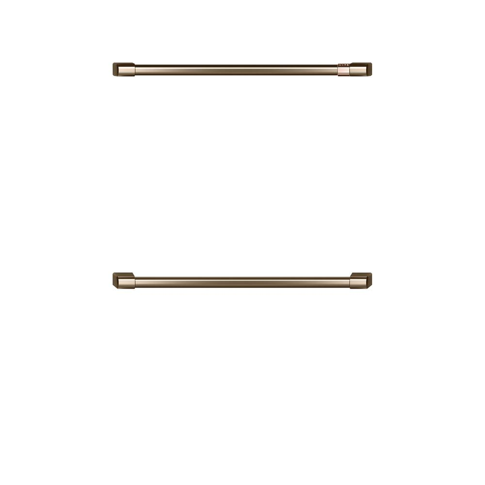 30 in. Double Wall Oven Handles in Brushed Bronze