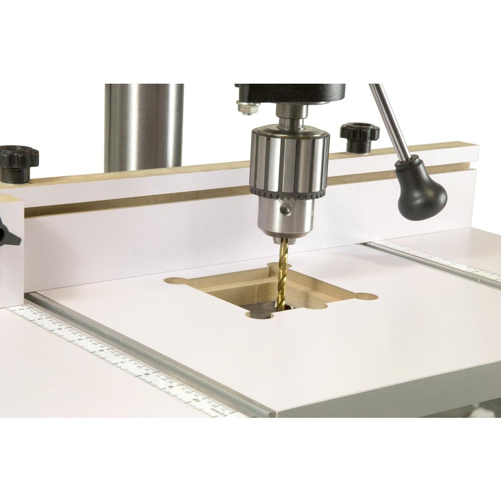 Adjustable Fence Stop Block Mortiser Accessory WEN Drill Press Table 24 x 12 in