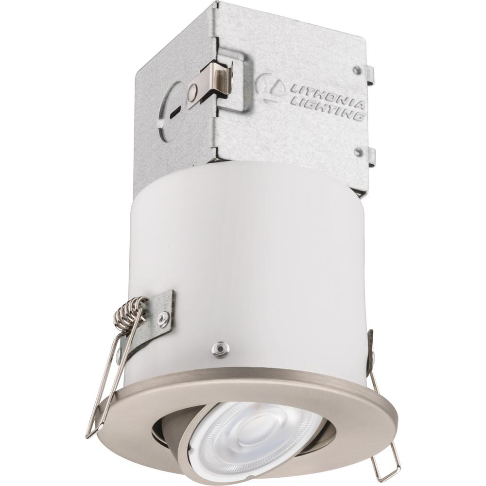 Lithonia Lighting Recessed Cans: Lithonia Lighting Lithonia OneUp 3 In. Brushed Nickel