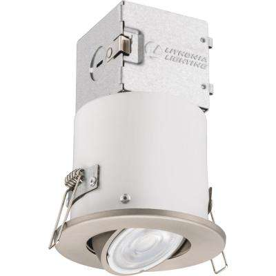 Lithonia OneUp 3 in. Brushed Nickel Integrated LED Recessed Kit