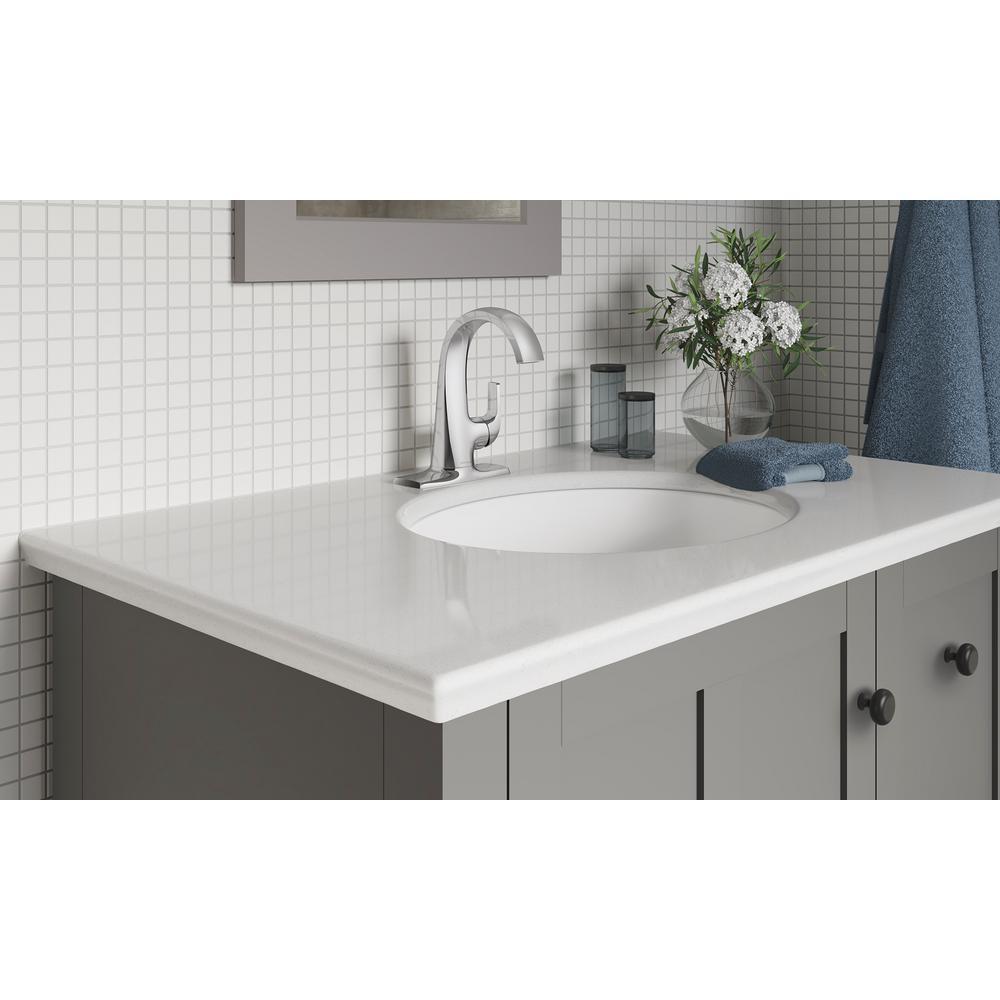 Cursiva Single Hole Single-Handle Bathroom Faucet in Polished Chrome