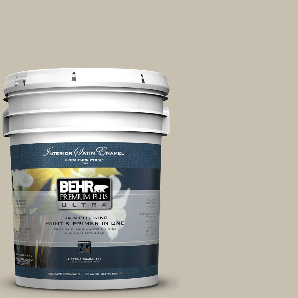 5-gal. #BXC-56 Stone Creek Satin Enamel Interior Paint
