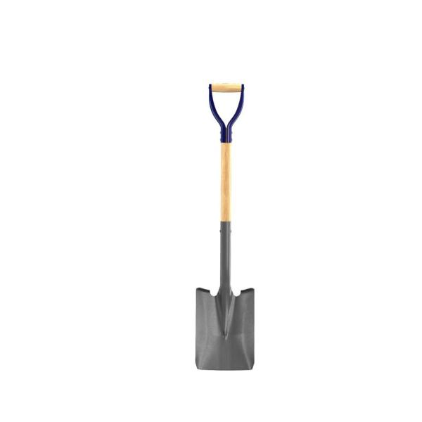 27 in. Wood Handle Professional Square Point Shovel