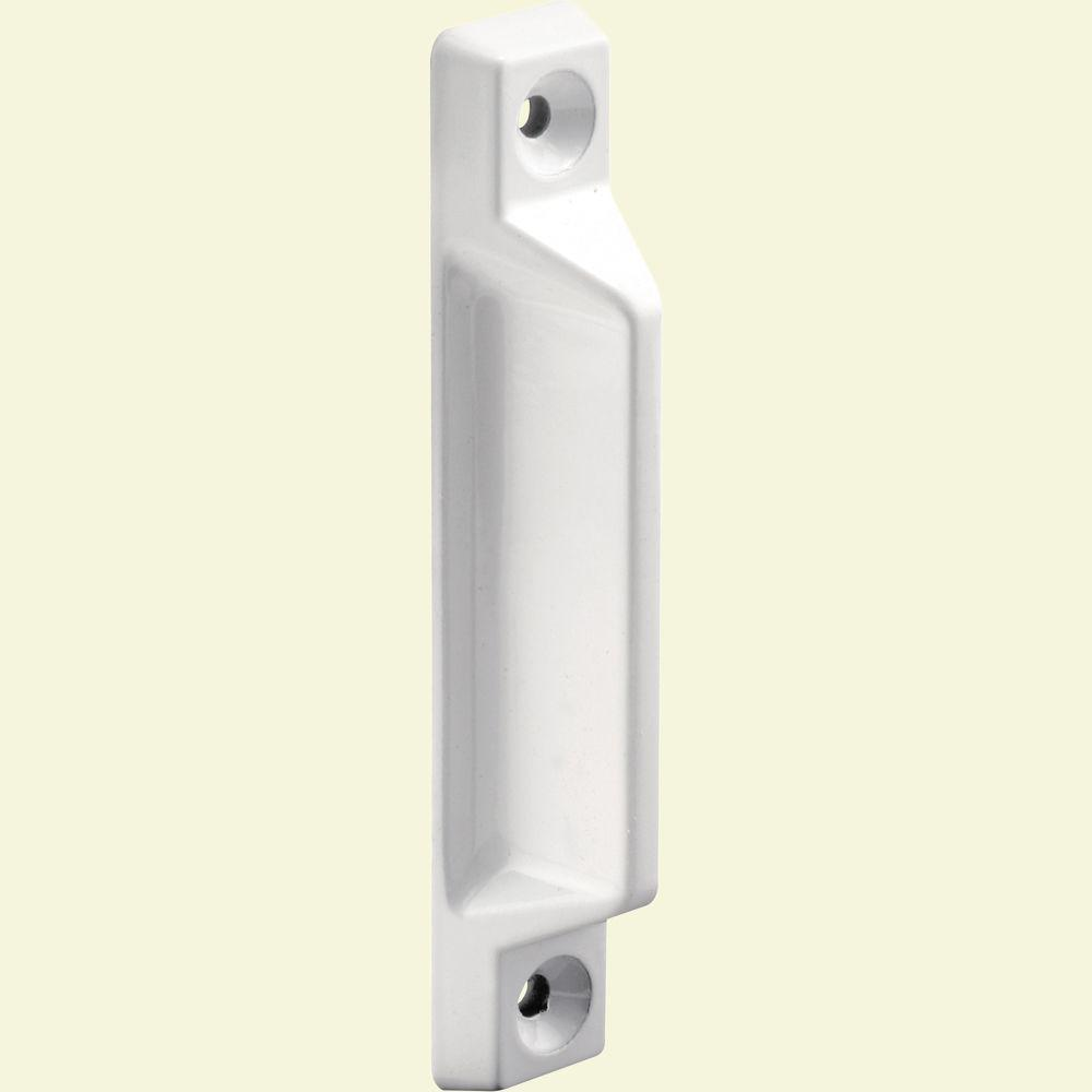 Prime-Line Deluxe White Wood Window Sash Lift (2-Pack)