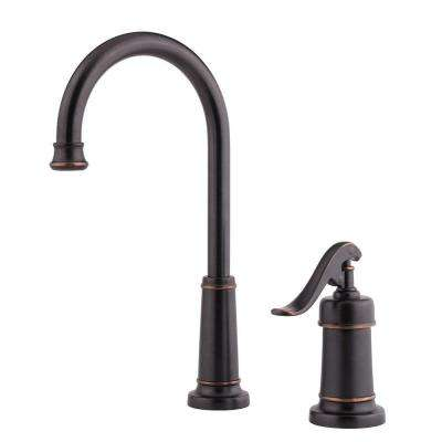 Ashfield Single-Handle Bar/Prep Kitchen Bar Faucet in Tuscan Bronze