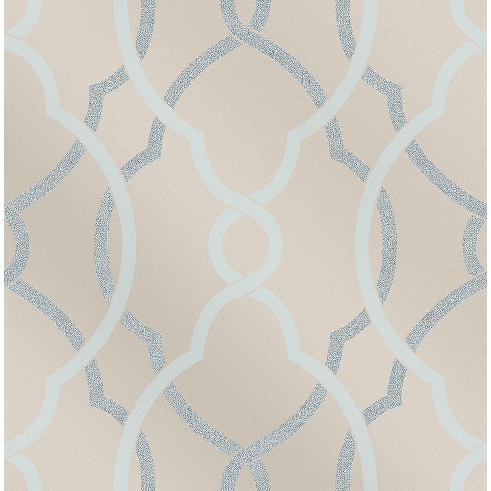 Sausalito Light Blue Lattice Wallpaper
