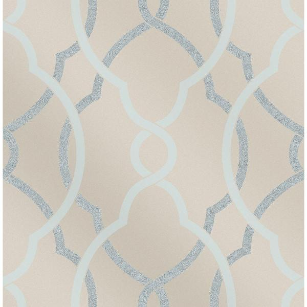 A-Street Sausalito Light Blue Lattice Wallpaper 2697-87303