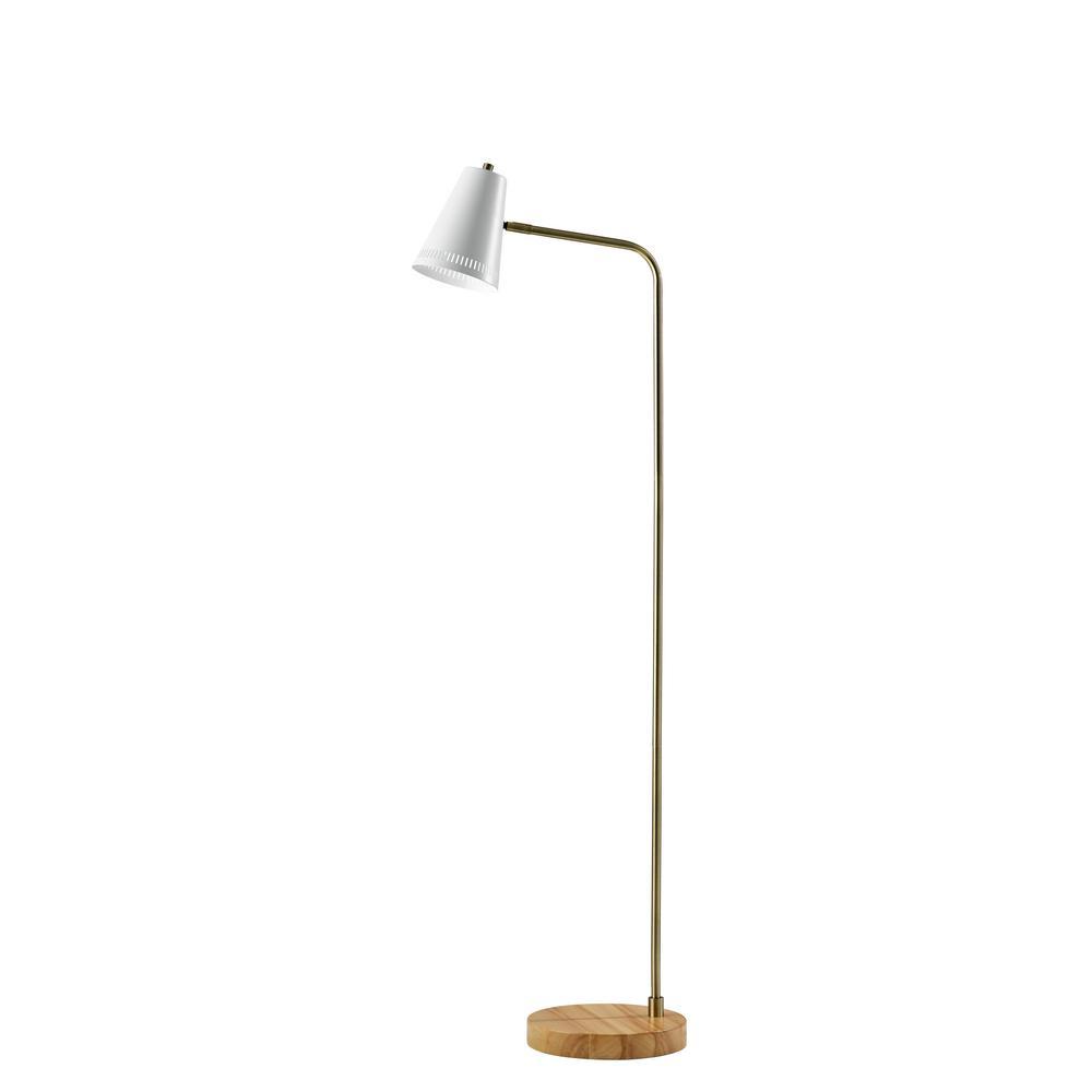 Morris 55 in. H White Floor Lamp