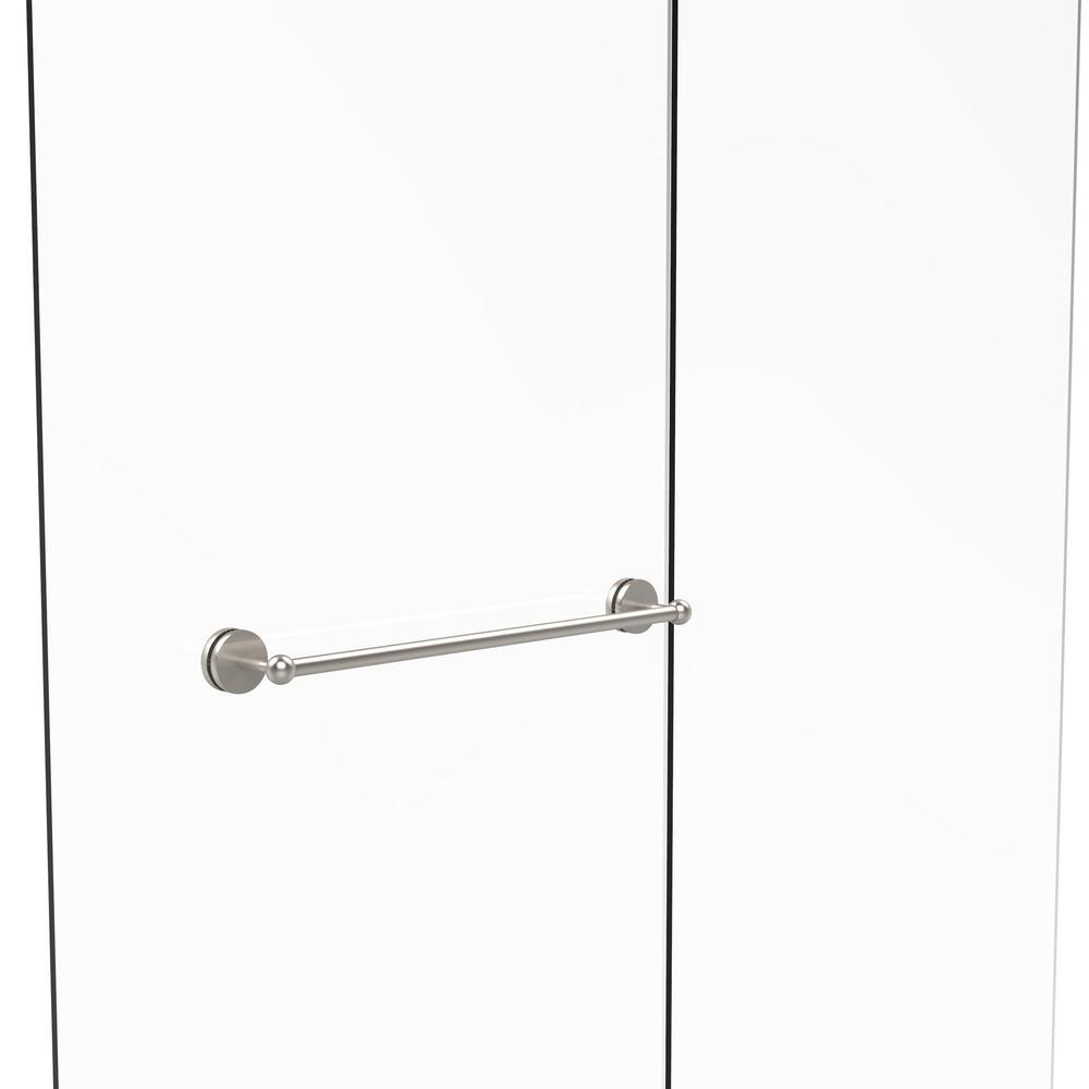 Monte Carlo Collection 30 in. Shower Door Towel Bar in Satin Nickel