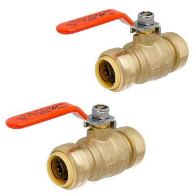 1 in. Brass Push-Fit Ball Valve (2-Pack)