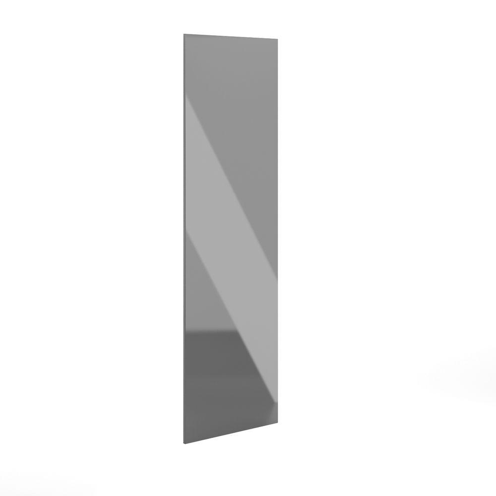 Eurostyle 30x91x0.75 in. Finishing End Panel in High Gloss Gray Acrylic