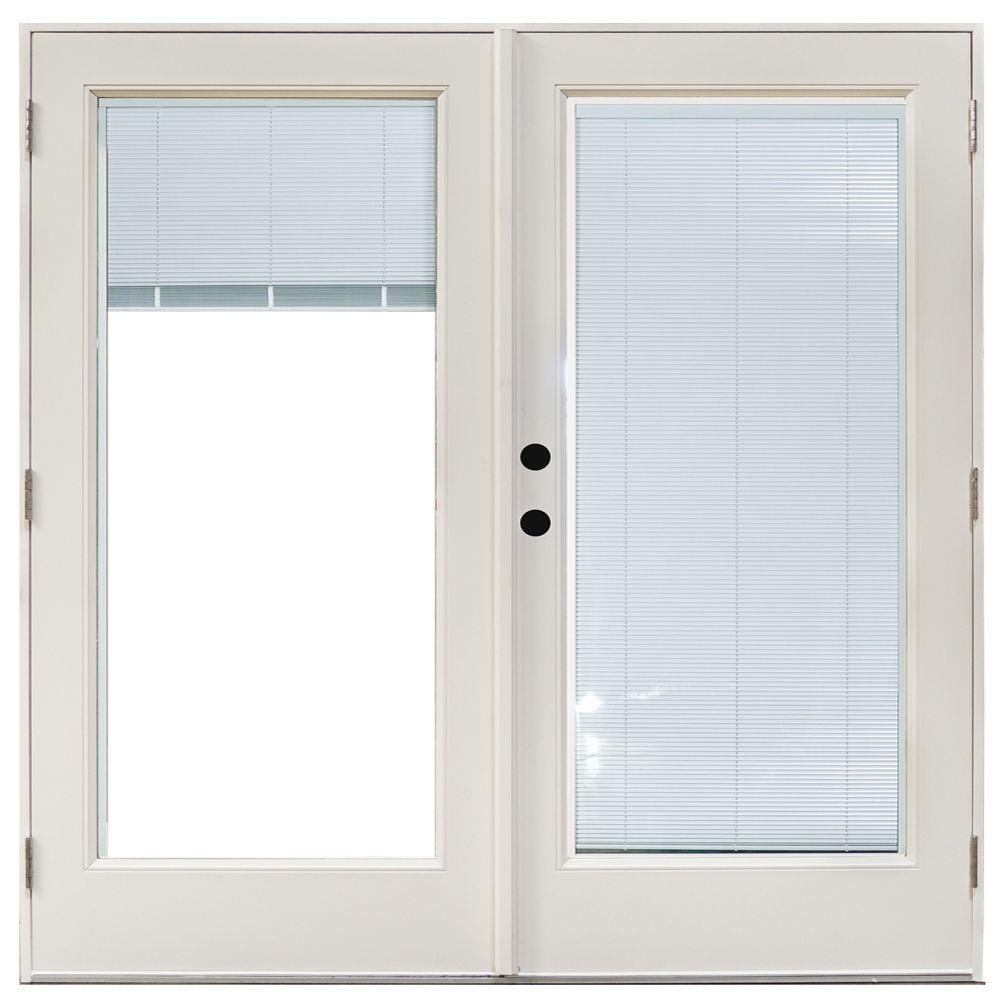 Mp doors 72 in x 80 in fiberglass smooth white right for French doors exterior inswing