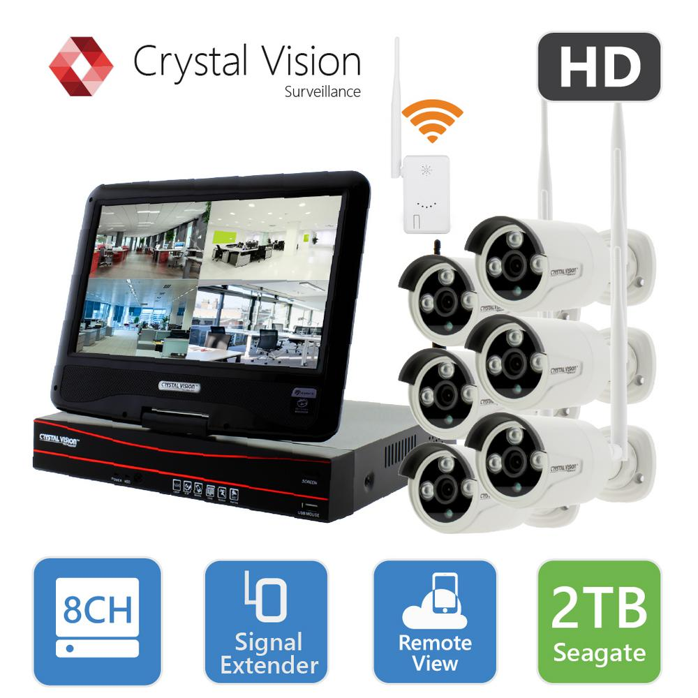8-Channel True HD 2TB HDD Wireless CCTV with 6-Autopair Weatherproof IR