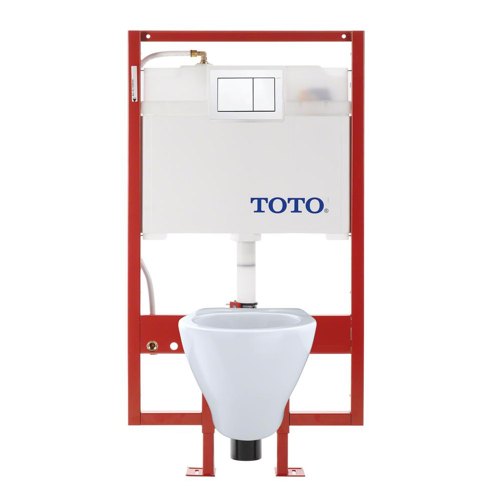 TOTO Aquia Duofit 09 16 GPF Dual Flush Elongated Wall Mounted Toilet With In