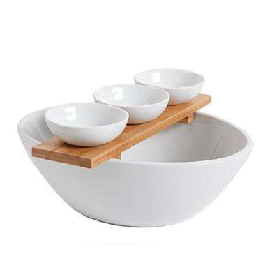 Gracious Dining 3-Piece Tidbit Serving Set with Bamboo Tray