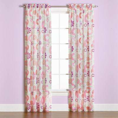 Dream 63 in. L Polyester Panel in Coral
