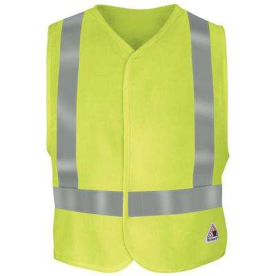 Men's 5X-Large Yellow/Green Hi-Visibility Flame-Resistant Safety Vest