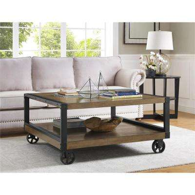 Wade Rustic Gray Mobile Coffee Table