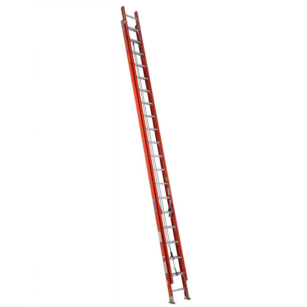 40 ft. Fiberglass Extension Ladder with 300 lbs. Load Capacity Type