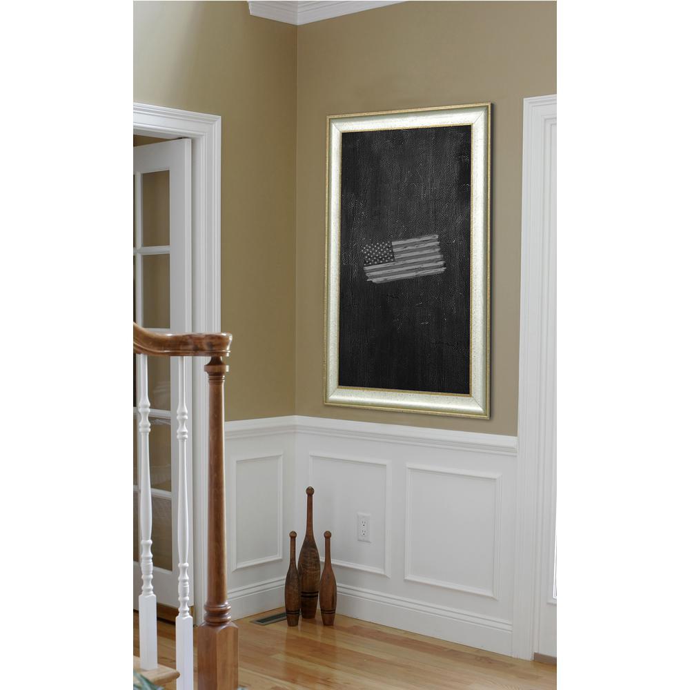 40 inch x 16 inch Vintage Silver Blackboard/Chalkboard by