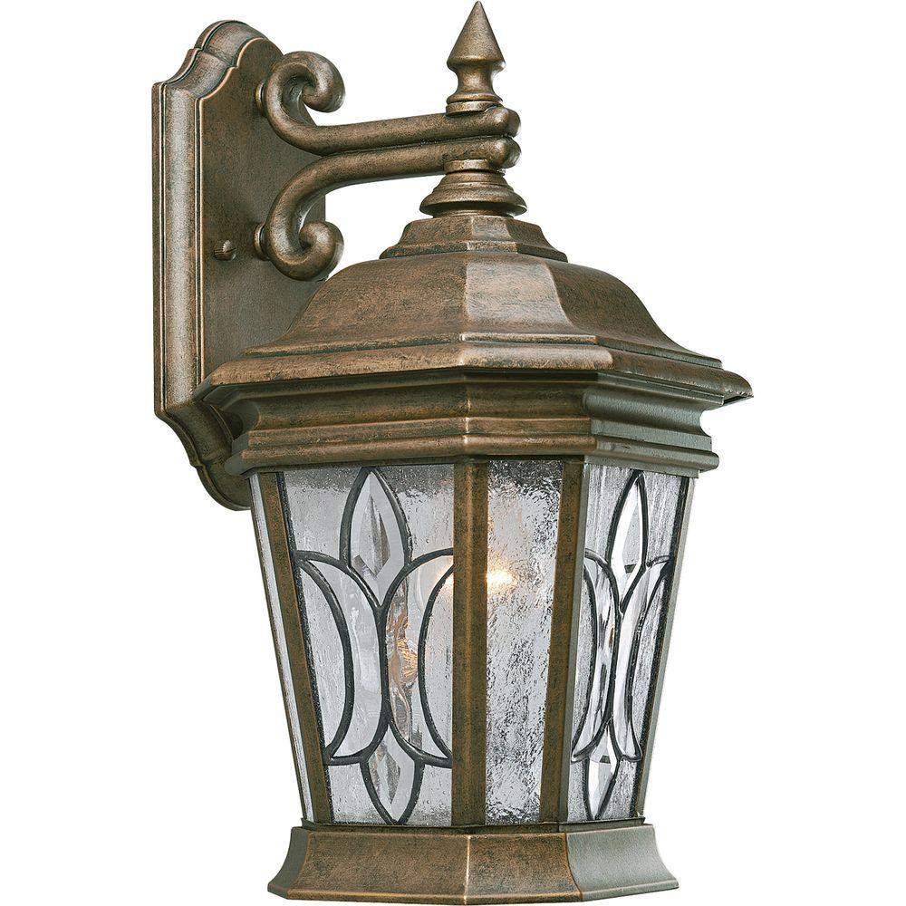 Progress Lighting Cranbrook Collection 1-light Burnished Chestnut Wall Lantern