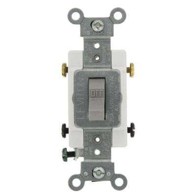 20 Amp Commercial Grade Double-Pole Toggle Switch, Gray