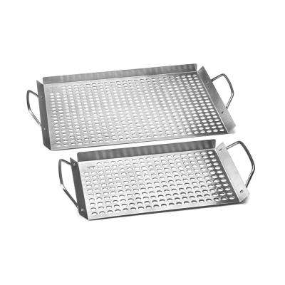 11 in. x 17 in. Stainless Steel Grill Topper Grid (2-Set)