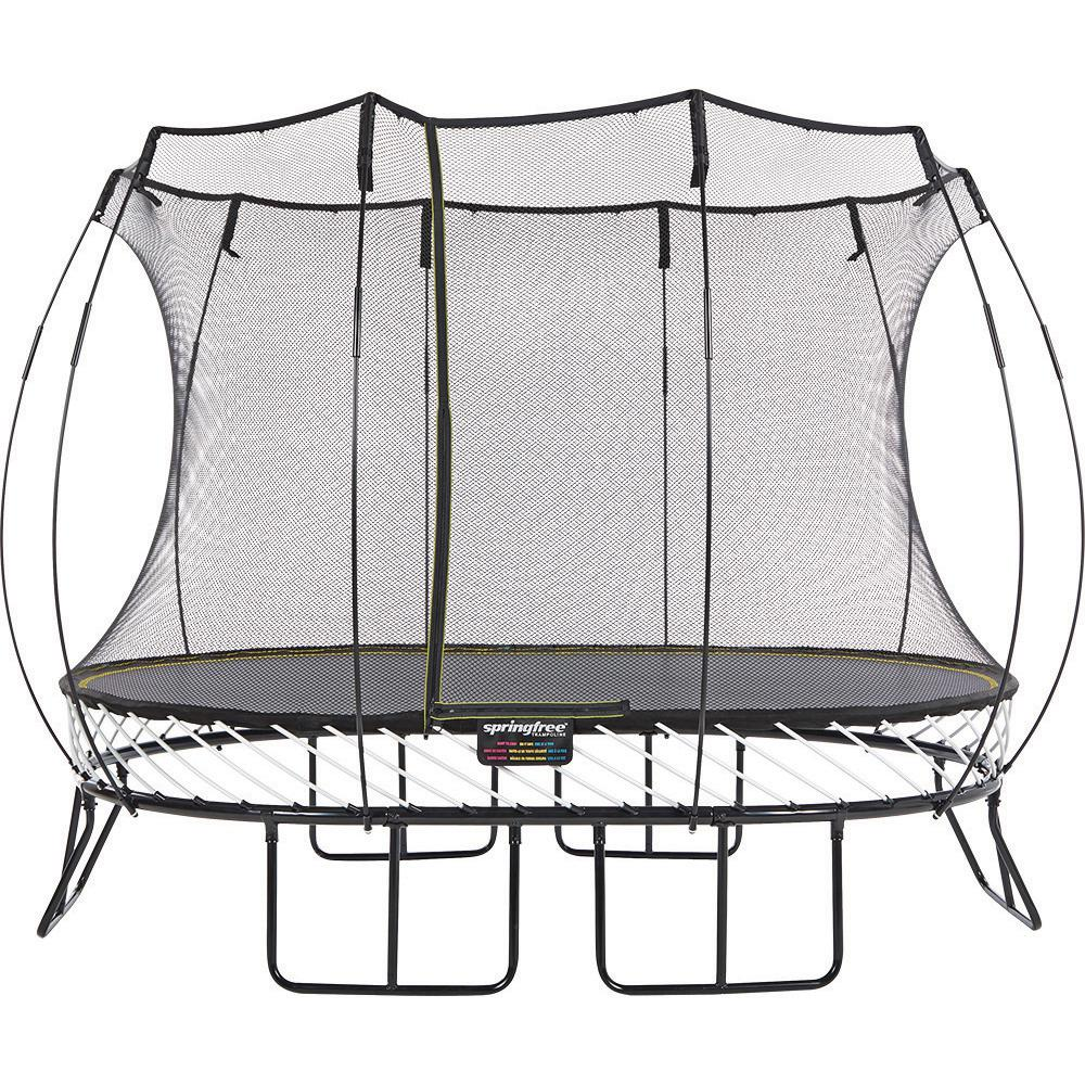 springfree 8 ft x 11 ft medium oval trampoline with