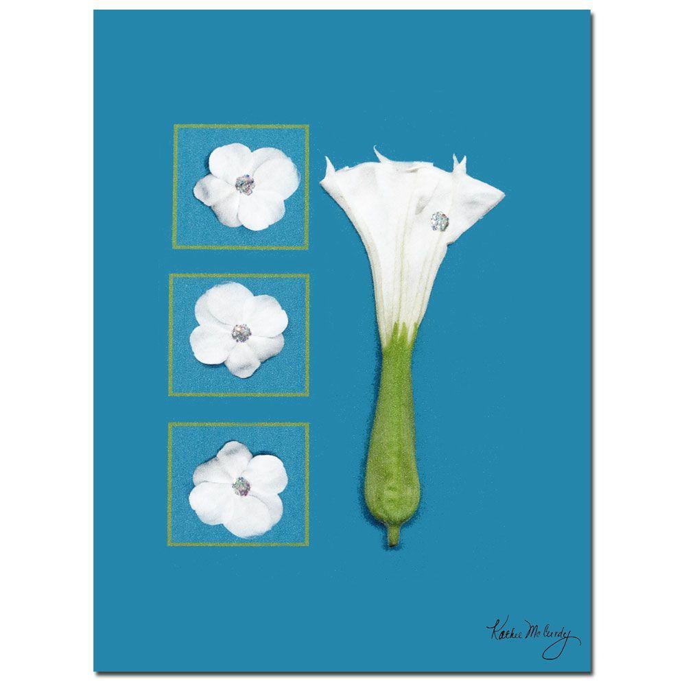 Trademark Fine Art 18 in. x 24 in. Moon Flower Canvas Art