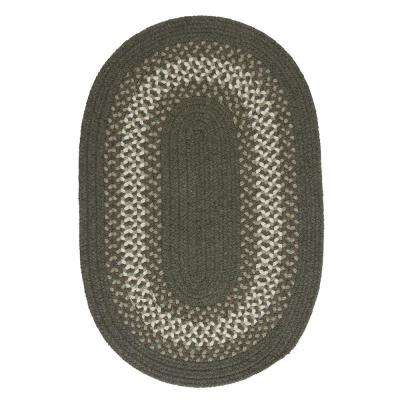Chancery Olive 8 ft. x 11 ft. Oval Braided Area Rug