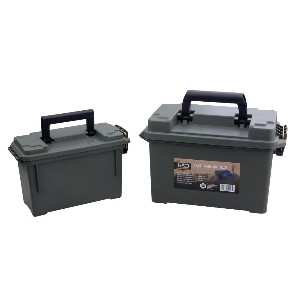 High Desert Black Heavy Duty Plastic Ammo Storage Boxes (2-Pack)  sc 1 st  Home Depot : ammo storage box  - Aquiesqueretaro.Com