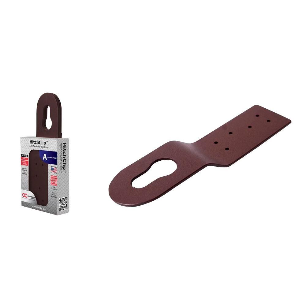 10 in. Brown Powder Coated Aluminum Hitch Clip Roof Anchor System