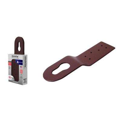 10 in. Brown Powder Coated Aluminum Hitch Clip Roof Anchor System (3-Piece per Pack)