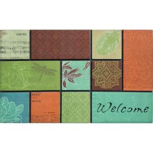 Apache Mills Tranquility Blue 22 in x 36 inch Door Mat by Apache Mills