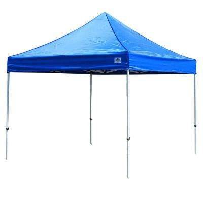 Festival 10 ft  W x 10 ft  D Instant Canopy in Blue