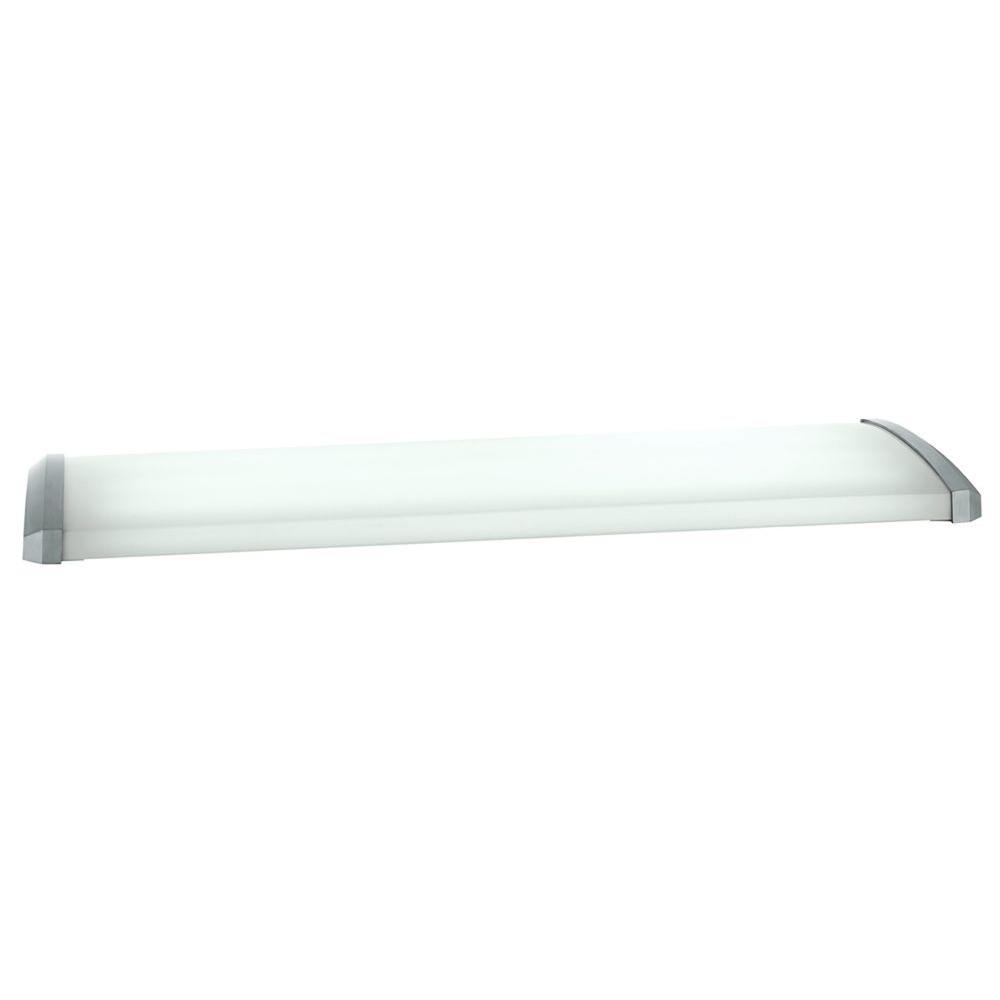 Aranda 4 Light Brushed Nickel Linear Fluorescent Ceiling Flushmount