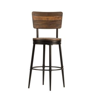 Hillsdale Furniture Jennings 26 In Distressed Walnut Swivel Counter Stool 4022 826 The Home Depot