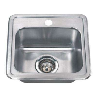 Chefs Series Drop-In 15 in. Stainless Steel Single Bowl Kitchen Sink